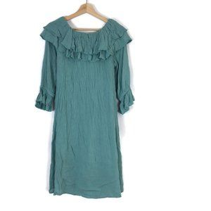 Soft Surroundings Dress Sea Green Off Shoulder